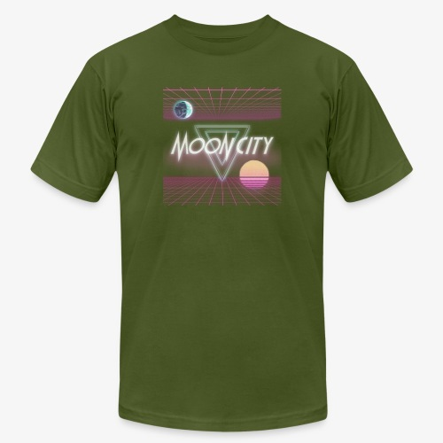 Moon City Retrogrid - Men's Jersey T-Shirt