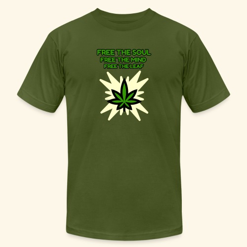 FREE THE SOUL - FREE THE MIND - FREE THE LEAF - Men's Jersey T-Shirt