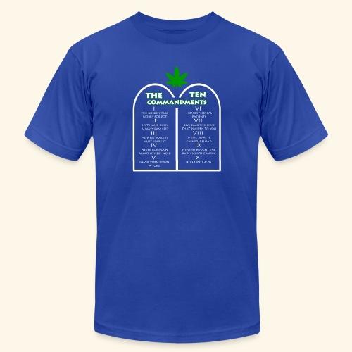 The Ten Commandments of cannabis - Men's Jersey T-Shirt