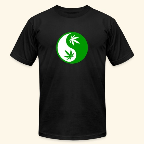 Ying Yang Cannabis - Weed Ying Hanf Yang - Design - Unisex Jersey T-Shirt by Bella + Canvas