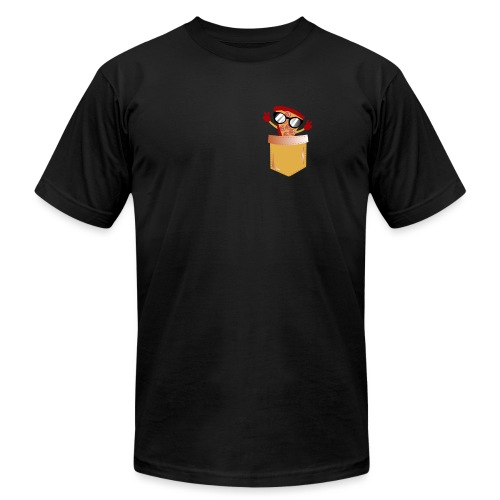 Pizza Lover pocket - Unisex Jersey T-Shirt by Bella + Canvas