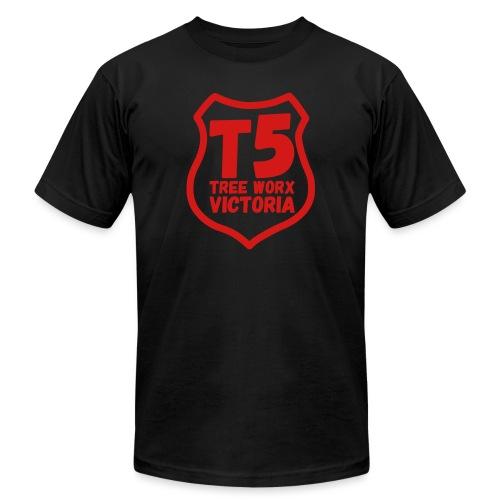 T5 tree worx shield - Unisex Jersey T-Shirt by Bella + Canvas