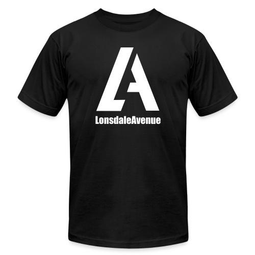 Lonsdale Avenue Logo White Text - Unisex Jersey T-Shirt by Bella + Canvas