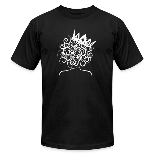 Curly Queen with Crown_ GlobalCouture Women's T-Sh - Unisex Jersey T-Shirt by Bella + Canvas