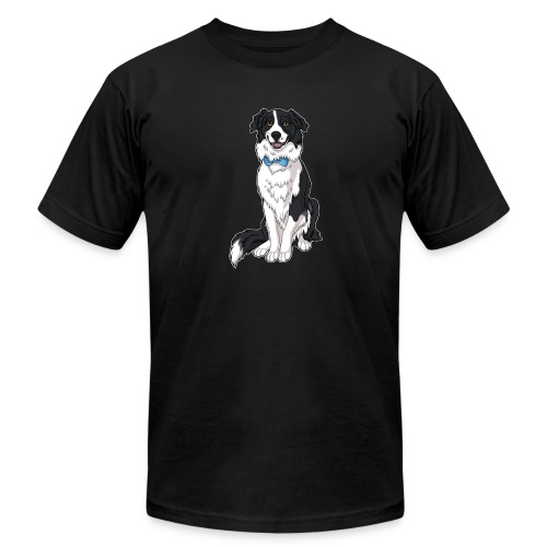 Border Collie Frankie - Transparent Background - Unisex Jersey T-Shirt by Bella + Canvas