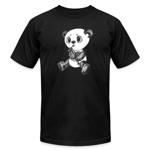 Panda bear white scribblesirii - Unisex Jersey T-Shirt by Bella + Canvas