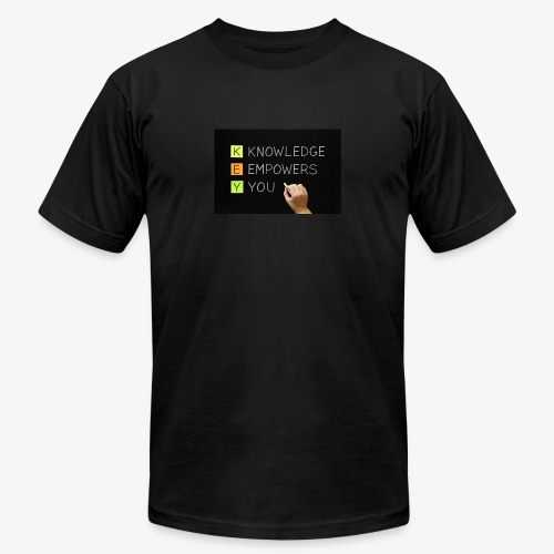 knowledge is power - Unisex Jersey T-Shirt by Bella + Canvas