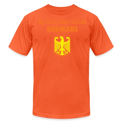16 Germans colored lettering - Unisex Jersey T-Shirt by Bella + Canvas
