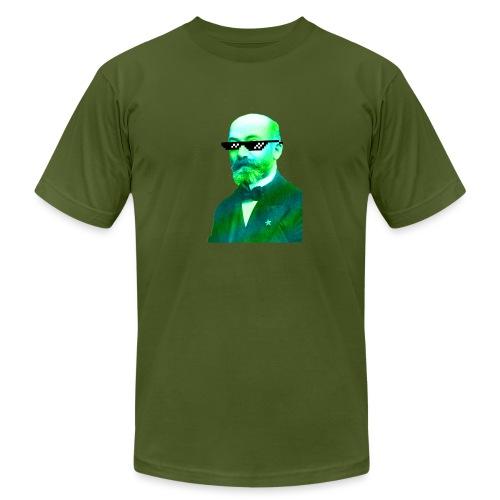 Green and Blue Zamenhof - Unisex Jersey T-Shirt by Bella + Canvas