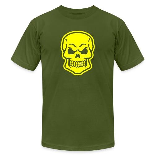 Skull vector yellow - Men's Jersey T-Shirt