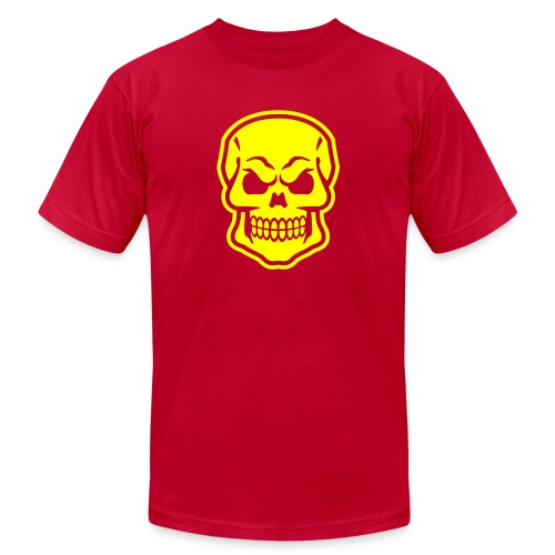 Skull vector yellow - Men's Jersey T-Shirt