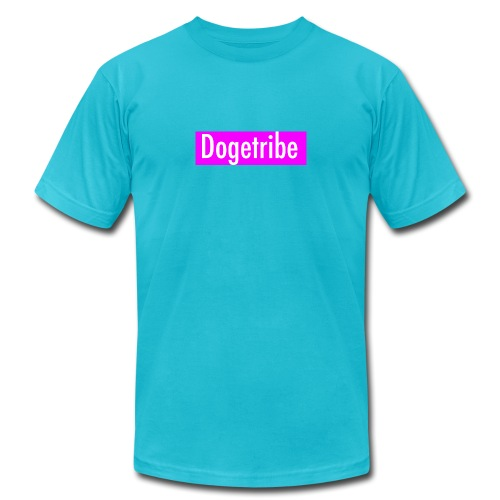 Dogetribe pink logo - Unisex Jersey T-Shirt by Bella + Canvas