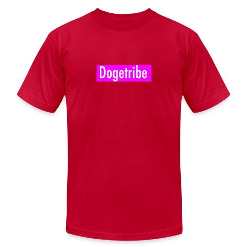 Dogetribe pink logo - Unisex Jersey T-Shirt by Bella + Canvas