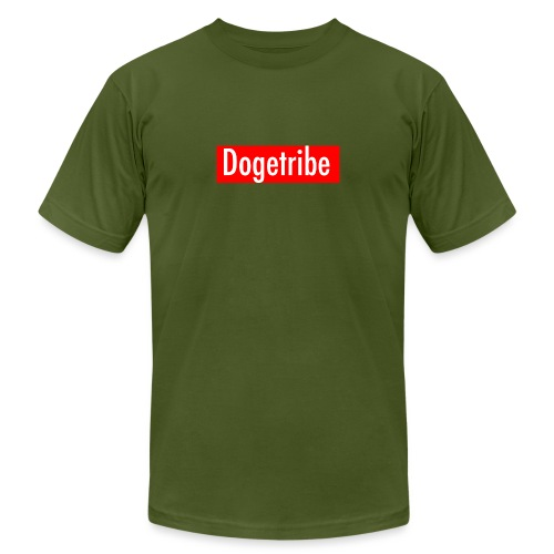 Dogetribe red logo - Unisex Jersey T-Shirt by Bella + Canvas