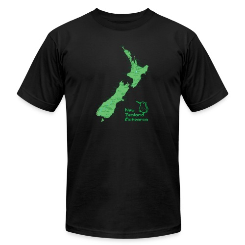 New Zealand's Map - Unisex Jersey T-Shirt by Bella + Canvas