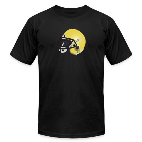 yellow football helmet - Unisex Jersey T-Shirt by Bella + Canvas