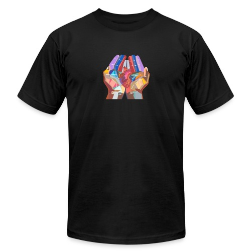 Heart in hand - Unisex Jersey T-Shirt by Bella + Canvas