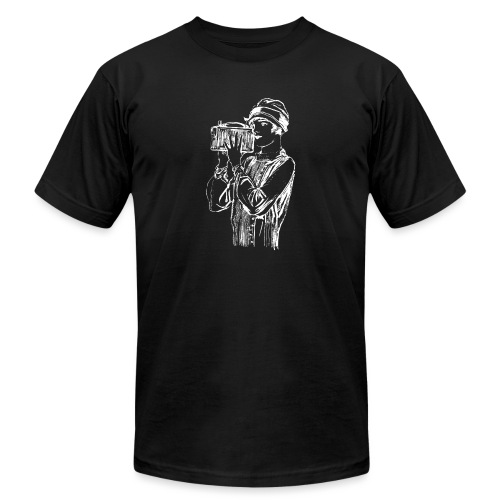 Woman with Old Camera - Men's Jersey T-Shirt