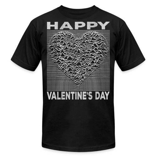 Love Lines Happy Valentines Day Heart - Unisex Jersey T-Shirt by Bella + Canvas