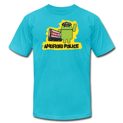 Debeloid Design 3 front - Unisex Jersey T-Shirt by Bella + Canvas