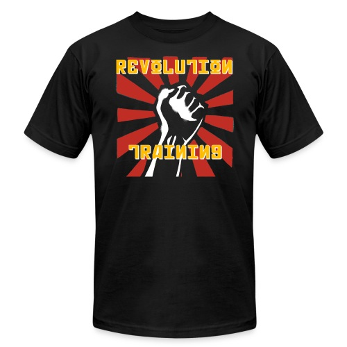 revolution shirt front black - Unisex Jersey T-Shirt by Bella + Canvas