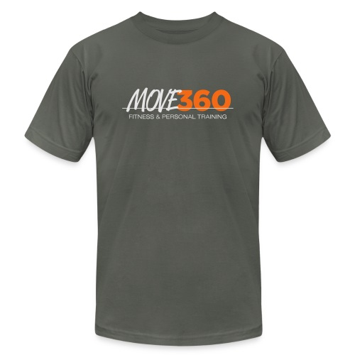 Move360 Logo LightGrey - Unisex Jersey T-Shirt by Bella + Canvas