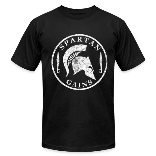 Spartan Gains Logo fuer schwarzes Shirt png - Unisex Jersey T-Shirt by Bella + Canvas
