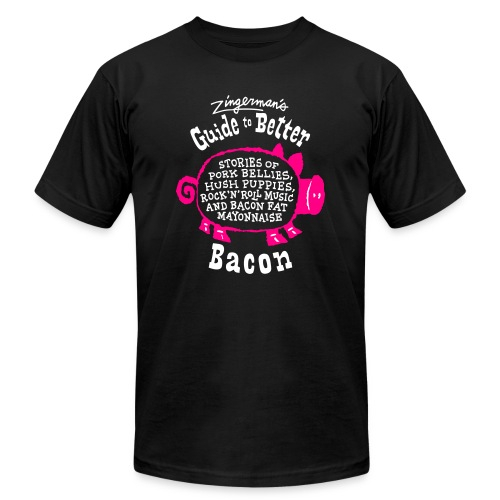 bacon tshirt reversed9 front - Unisex Jersey T-Shirt by Bella + Canvas