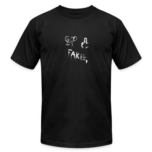 God Is Fake - Men's Fine Jersey T-Shirt