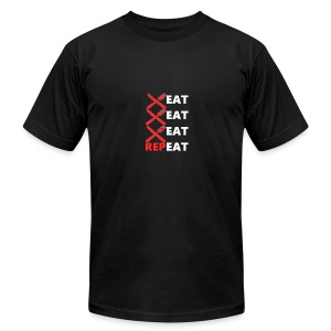 Eat, Eat, Eat, RepEAT - Men's T-Shirt by American Apparel