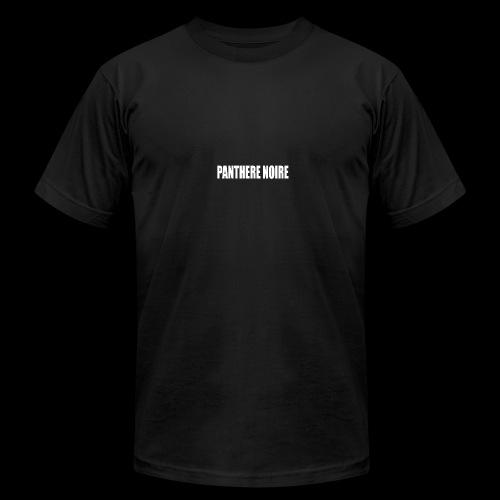 white logo - Men's Fine Jersey T-Shirt
