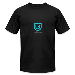 UpRamp Logo Blue Stacked ColorWhite - Men's Fine Jersey T-Shirt