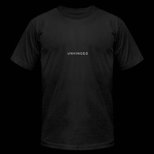 Unhinged Text Design WHITE - Men's Fine Jersey T-Shirt