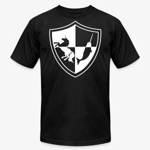 Unicorn & Narwhal Sheild - Men's Fine Jersey T-Shirt