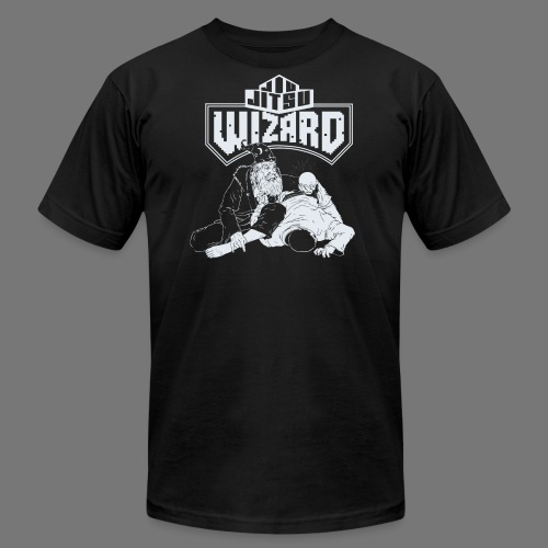 Jiu Jitsu Wizard- Crystal ball-o-plata - Men's Fine Jersey T-Shirt