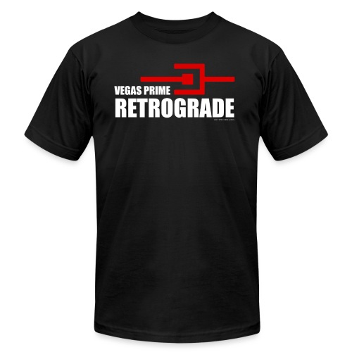 Vegas Prime Retrograde - Title and Hack Symbol - Men's T-Shirt by American Apparel