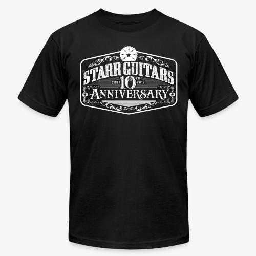 Starr Guitars 10th Anniversary White Logo - Men's Fine Jersey T-Shirt