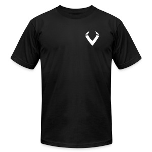 Vision V Logo - White V - Men's T-Shirt by American Apparel