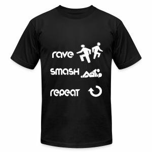 rave smash repeat - Men's Fine Jersey T-Shirt