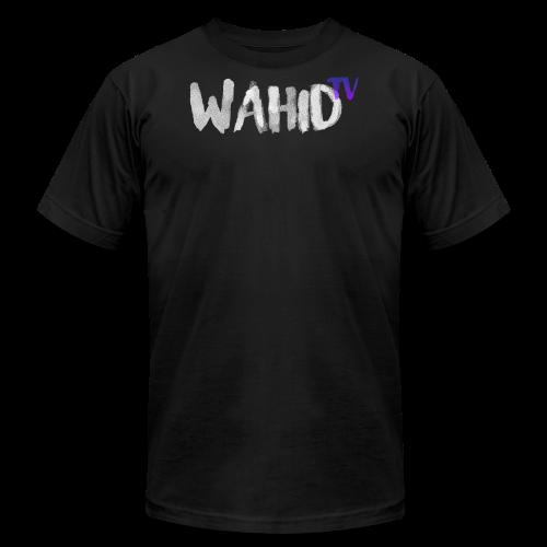 WahidTV Text Logo - Men's Fine Jersey T-Shirt