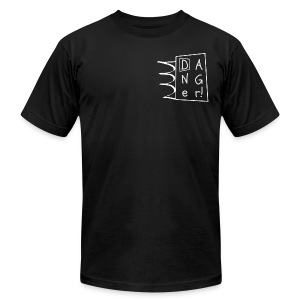Black Danger tee - Men's Fine Jersey T-Shirt