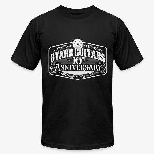 Starr Guitars 10th Anniversary White Logo - Men's  Jersey T-Shirt