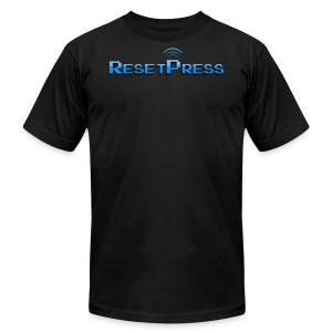 The ResetPress logo - Men's T-Shirt by American Apparel