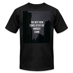 THE BEST VIEW COMES AFTER THE HARDEST CLIMB - Men's Fine Jersey T-Shirt