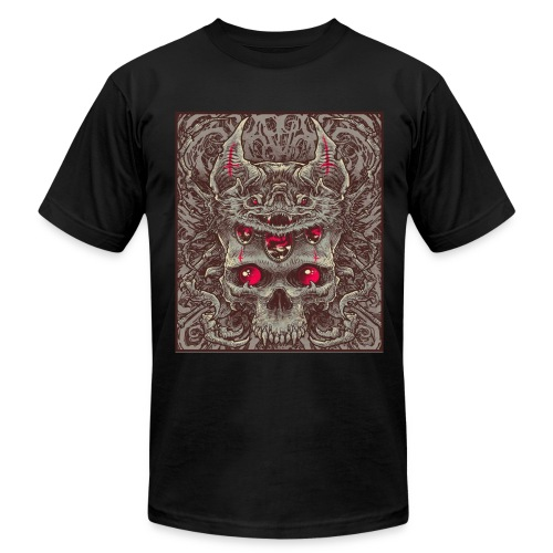 Bat and Skull - Men's Fine Jersey T-Shirt