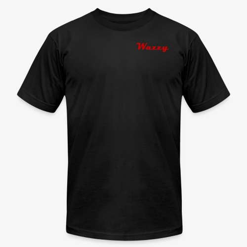 Wazzy Black and Red - Men's Fine Jersey T-Shirt