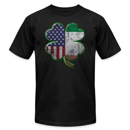 Irish American Shamrock Flags - Men's Fine Jersey T-Shirt