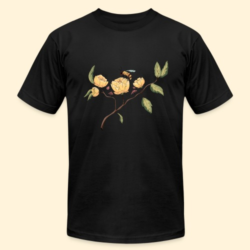 Honeybee Flower Design - Men's Fine Jersey T-Shirt