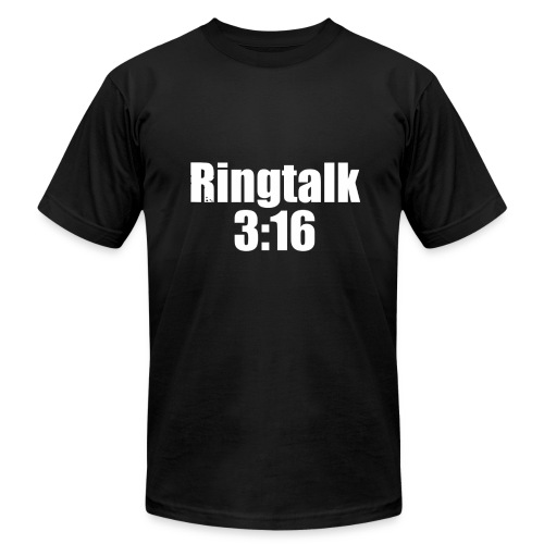 RingTalk 3:16 Logo - Men's Fine Jersey T-Shirt