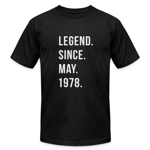 40th Birthday Gift Legend Since May 1978 Shirt - Men's Fine Jersey T-Shirt